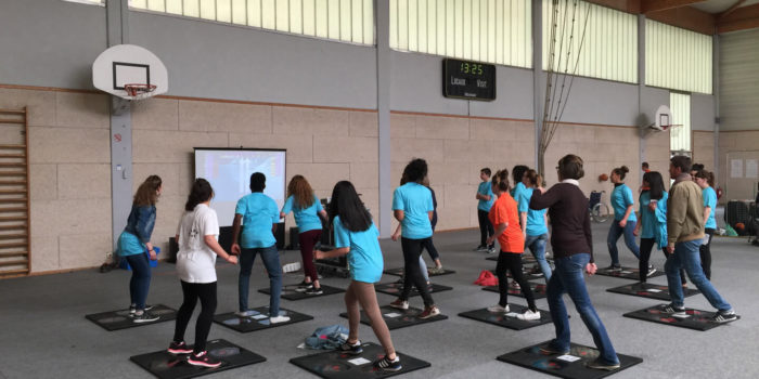 Animation danse interactive gymnase - Hitech Events