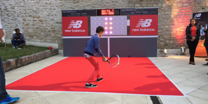 Animation événements tennis interactif - Hitech Events